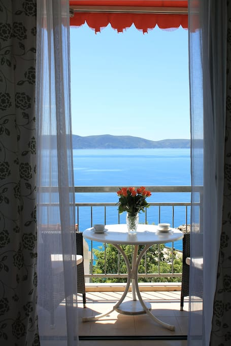 Lovely balcony with beautiful sea view