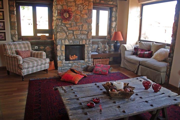 Amazing winter lodge