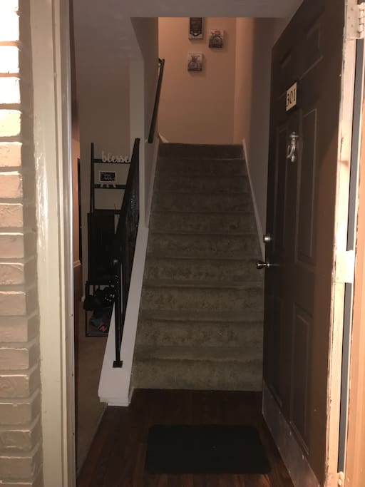 Front entry way to upstairs ( 1.5 flights )