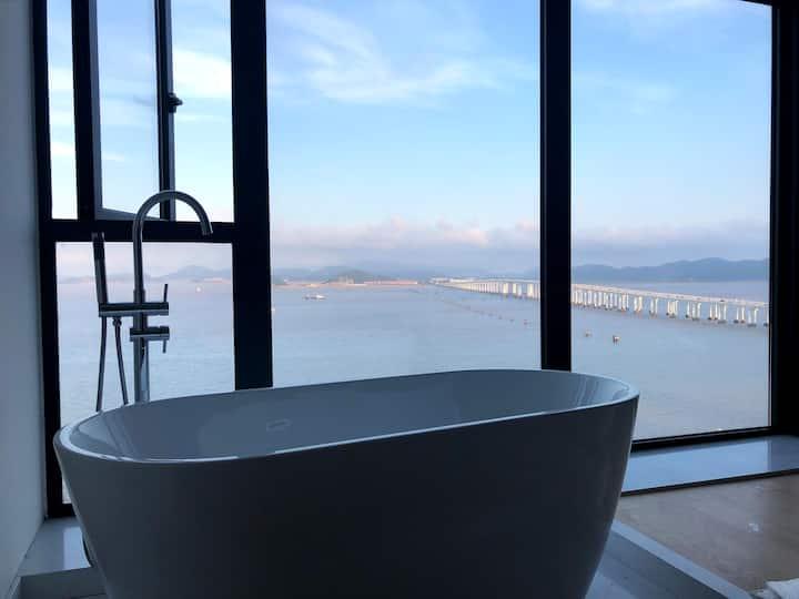 【海宿•云虹星海】落地浴缸沙发秋千朝圣海景