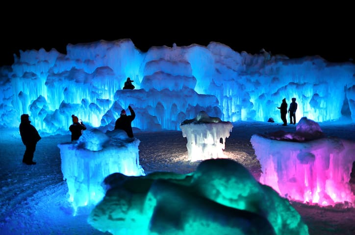 Ice Castle in nearby North Woodstock. Only 15 minutes away. Opens January 10th!