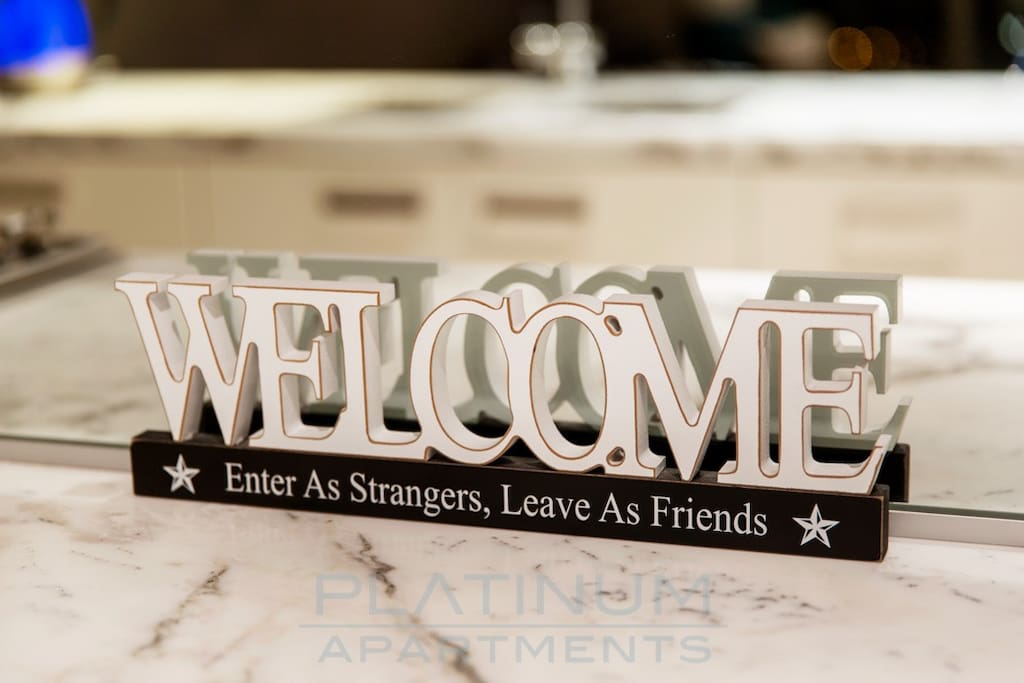 We want you to feel welcome and your apartment is a home away from home experience