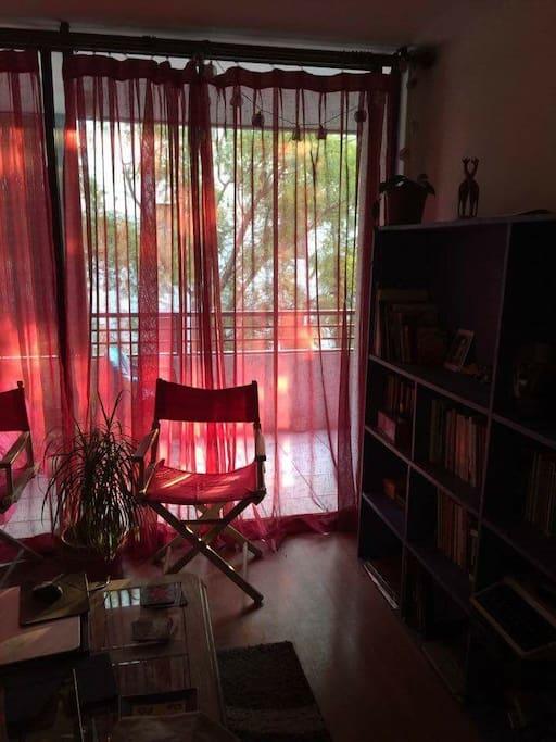 Living room y balcón