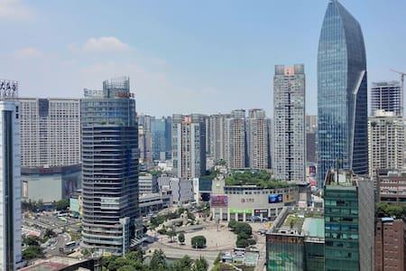 静静小屋 轻轨三分钟 观音桥步行街上 城市中心 推窗尽览3D重庆最繁华璀璨都市夜景  虽繁华却宁静 - Chongqing - Apartmen