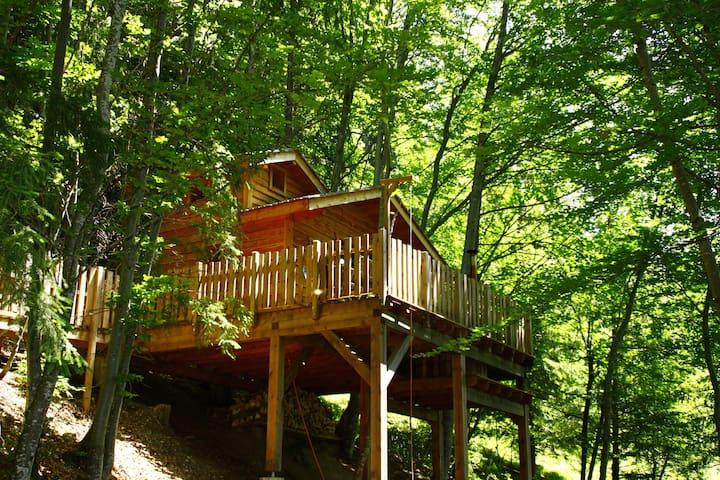 Cabane dans les arbres avec spa - La Thuile - Casa na árvore