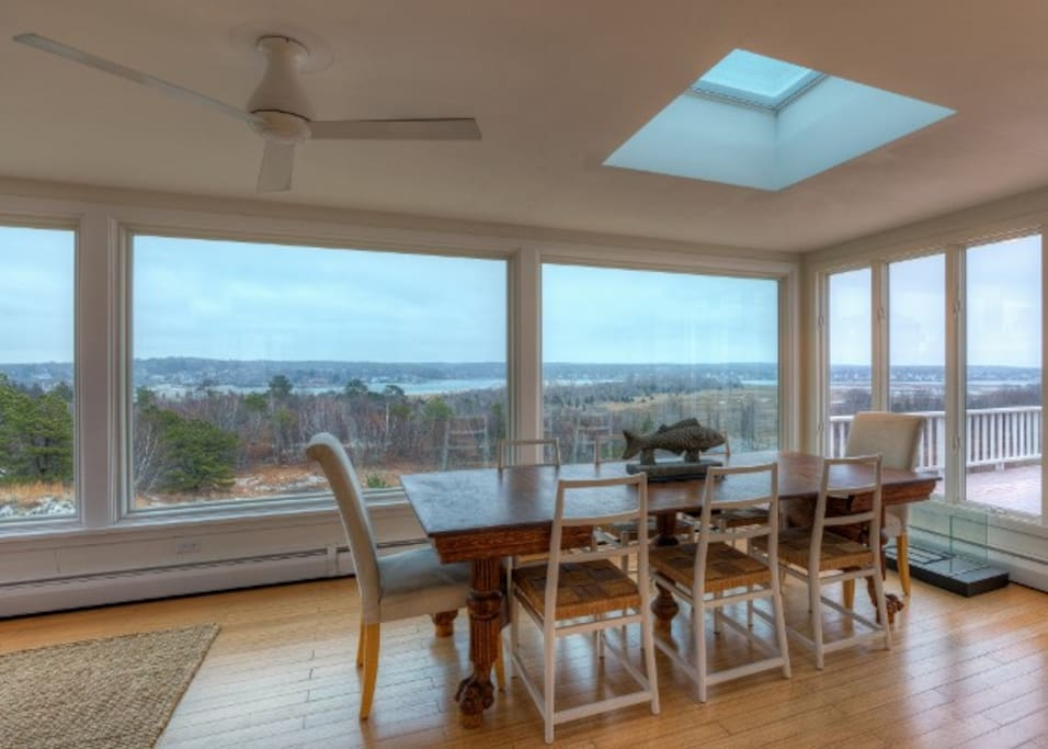 Enjoy sweeping views out the expansive windows.