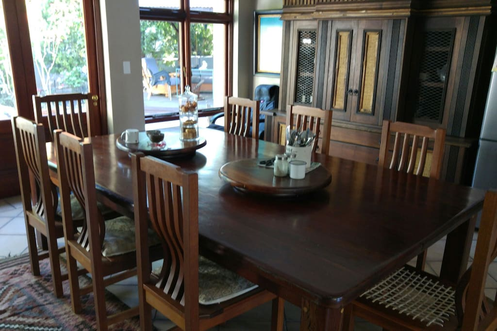 The Dining area is a comfortable 10 seater
