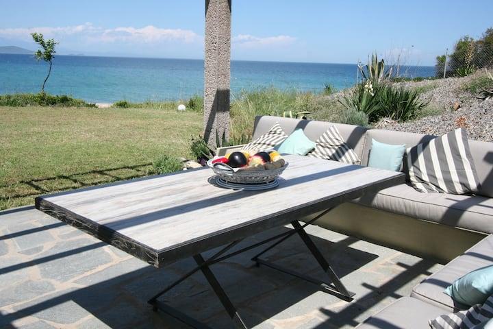 Luxurious Maisonette on the Beach! Overviews Athos