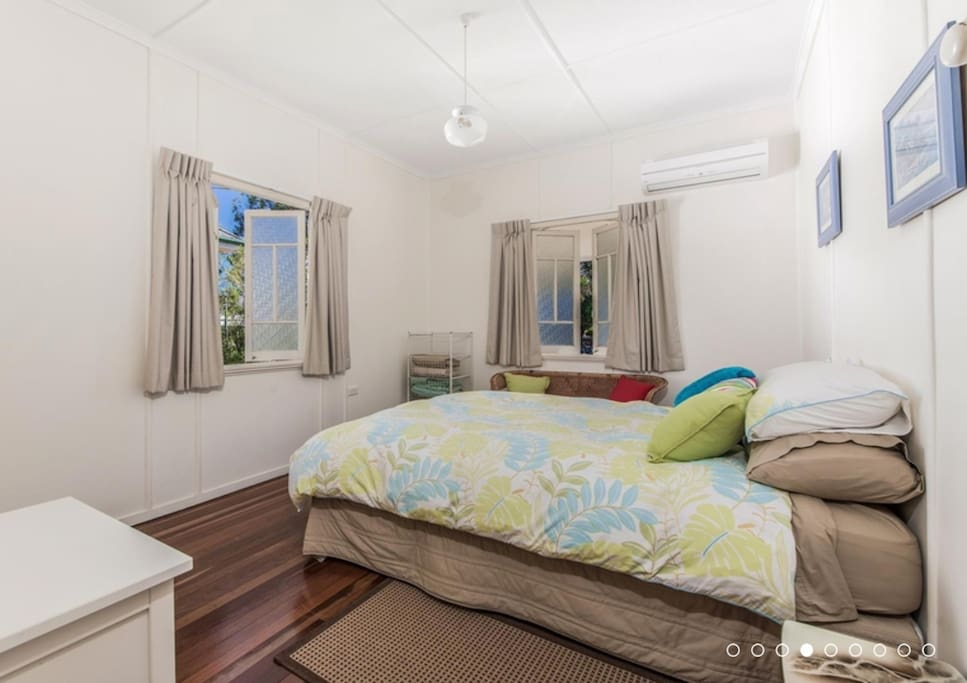 Main bedroom with air con