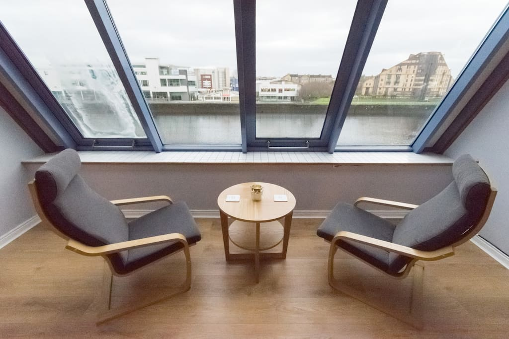 Relax and take in the views in our sun room