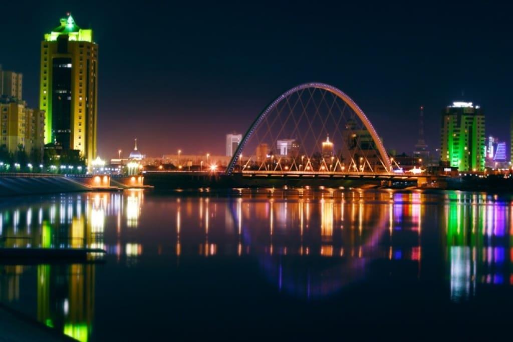 На двух берегах Ишима расположен город Астана, разделенный рекой на две части — правый берег и левый берег. По народному преданию, река названа в честь утонувшего сына татарского хана.