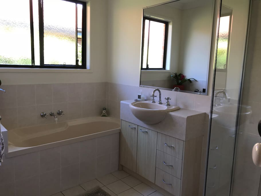 Own exclusive private bathroom with shower, separate bath etc.