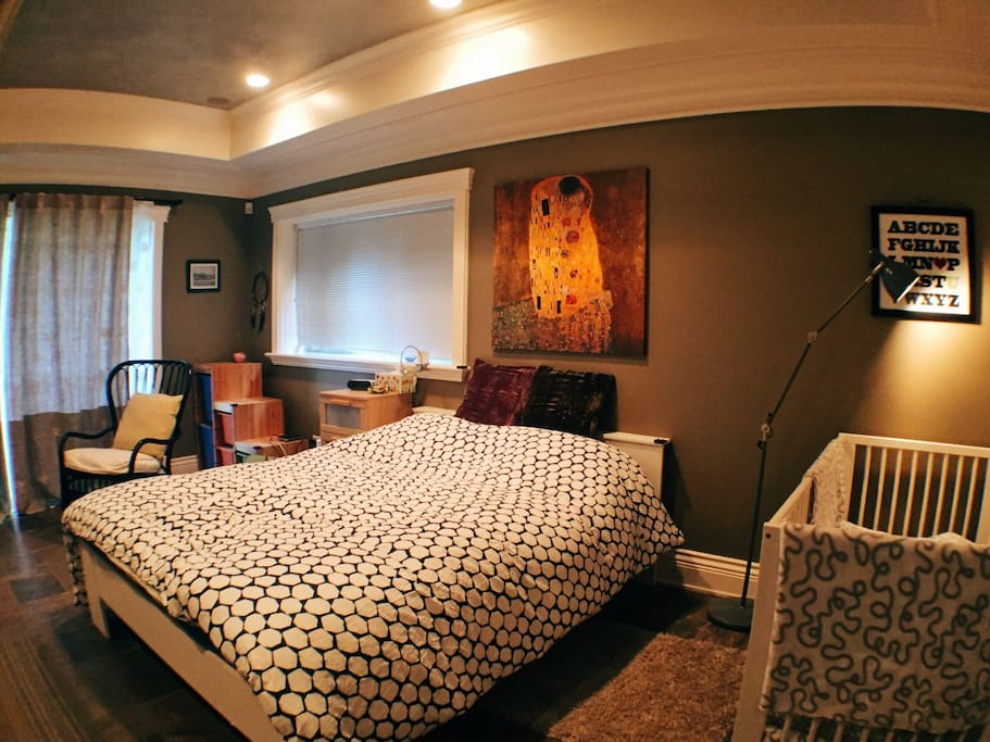 Master bedroom - optional crib upon request