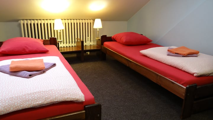 Twin room, 5 min walk Wenceslas sq. N59
