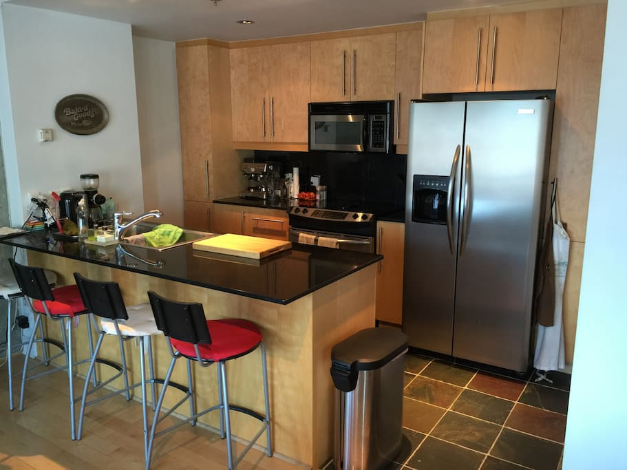 Open kitchen with all amenities (including dishwasher)