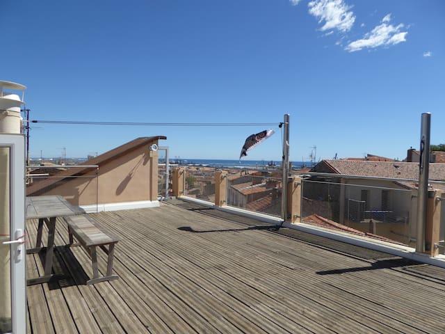 Appartement atypique, vue exceptionnelle à 360° - Sète