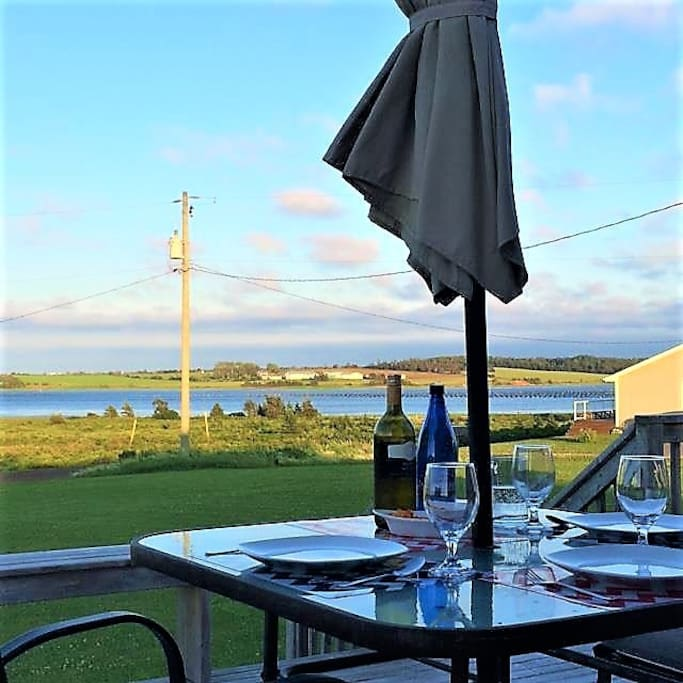Enjoy the beautiful views from the front patio while you enjoy fresh, local seafood available at the harbour