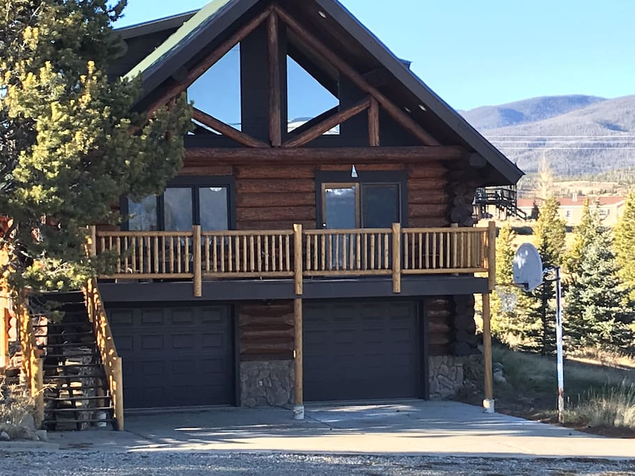 Log cabin with New railings