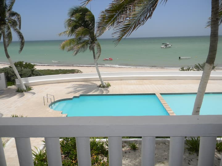 Wonderful apartment with sea front view in Yucatan