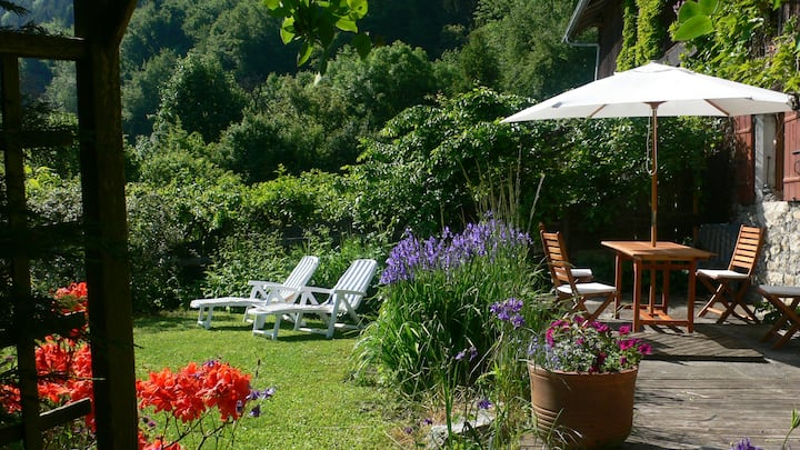 Lovely house with garden in the Alpes
