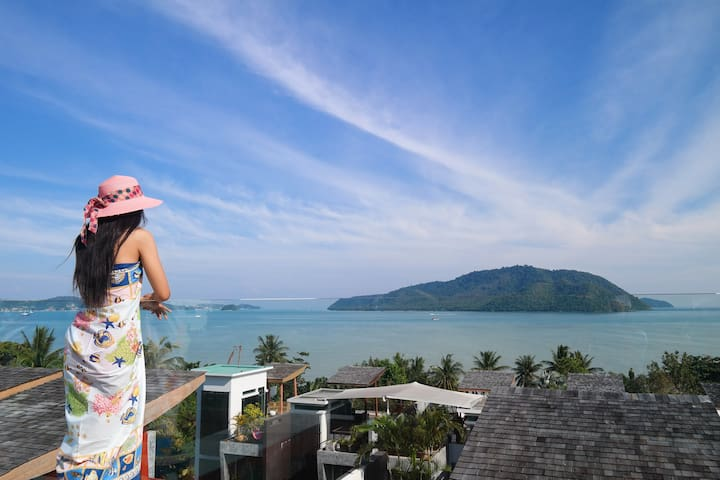 ♛Panoramic Sea View Luxury 4•BDRM Residence Phuket