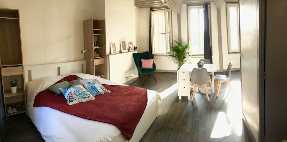 Charmant studio, centre ville de Montivilliers