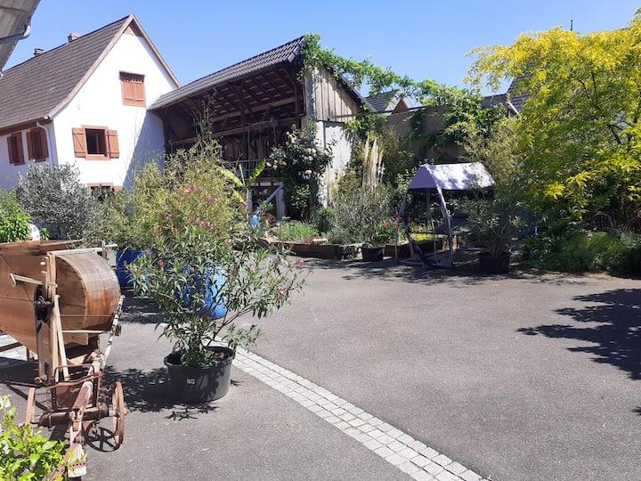Chambre MAMEMA corps de ferme proche Strasbourg