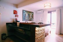 Cozinha Americana no segundo quarto.
