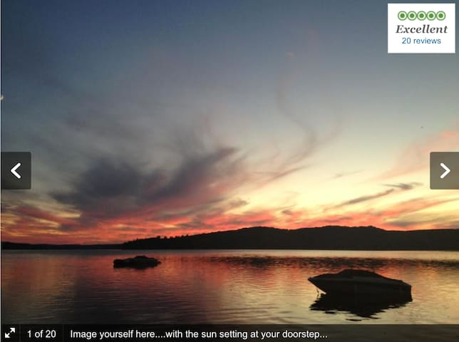 2 BDRM lakeside cottage with stunning sunsets
