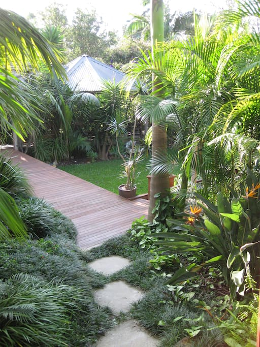 View of the private pathway leading to your Garden Suite.