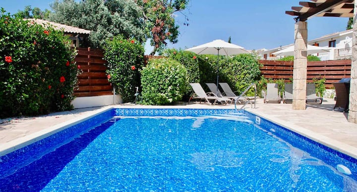 Villa Athina with spacious outside area and views