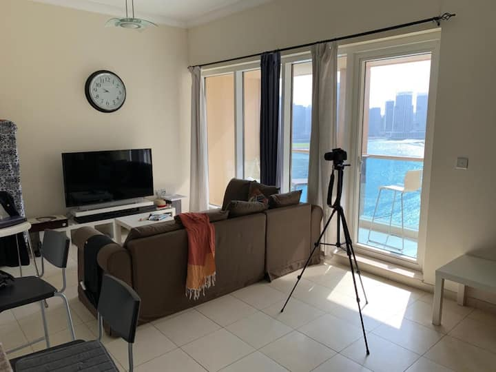 1BR furnish  with Burj Khalifa & water canal view