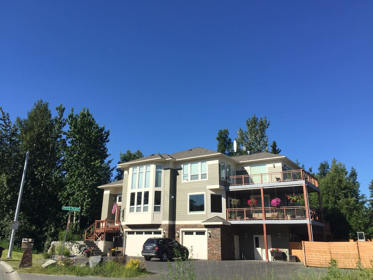 Stay in the Guest Apartment in a new custom home on the Anchorage Coastal Trail.