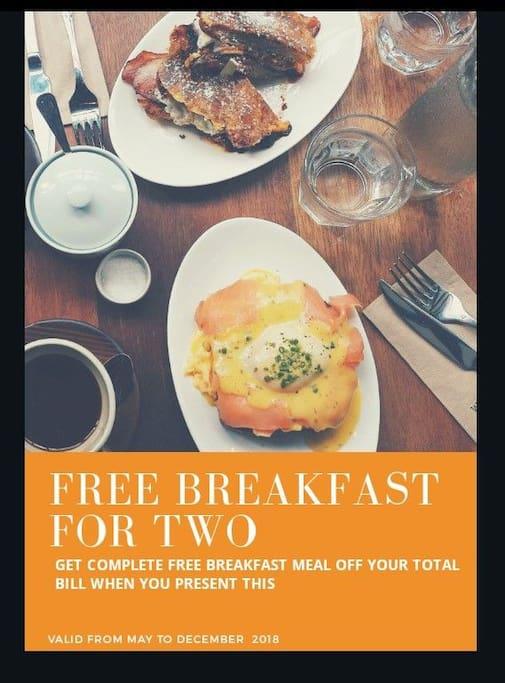 Breakfast offer
