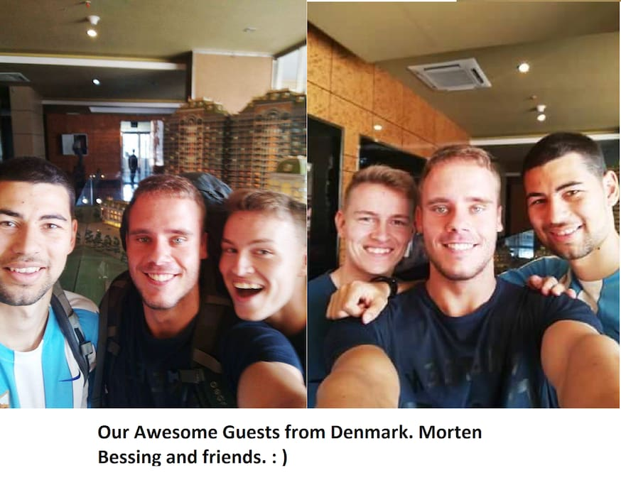 Our Three awesome guests from Denmark. Morten Bessing and friends. You guys are rocks. :)