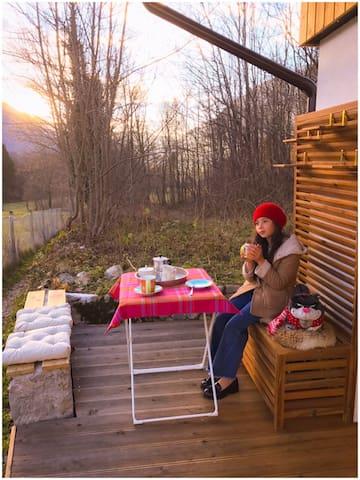 Wooden terrace (autumn)
