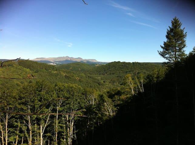 La vue panoramique sur le Sancy depuis la propriété