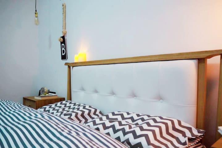 五大道老房子改造!独门独院阳光房共享60平米超大空间北欧设计家庭公寓 - Tianjin - Appartement