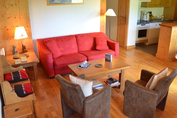 Lovely apartment right next to a green ski slope. - LE GRAND BORNAND - Flat