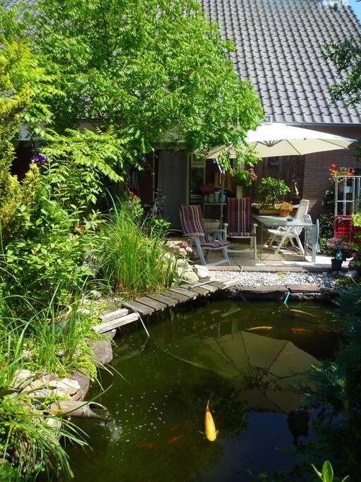Tuintje op het zuiden mag worden gebruikt voor buitenzitten