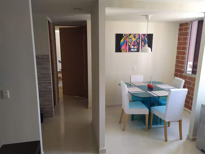 Apartamento amoblado excelente ubicación