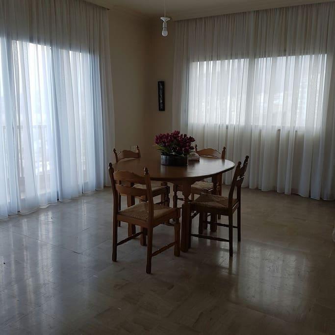 Sunny spacious dining room