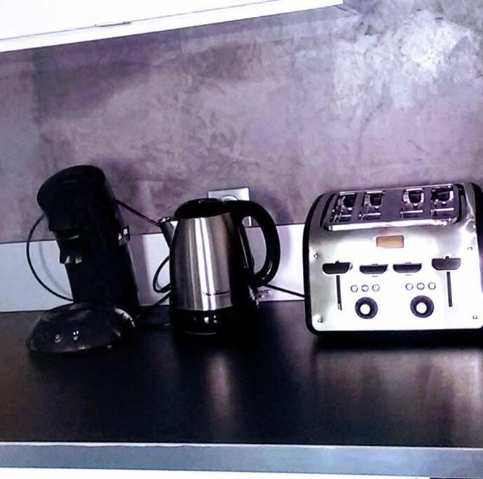 équipement pour le petit dejeuner