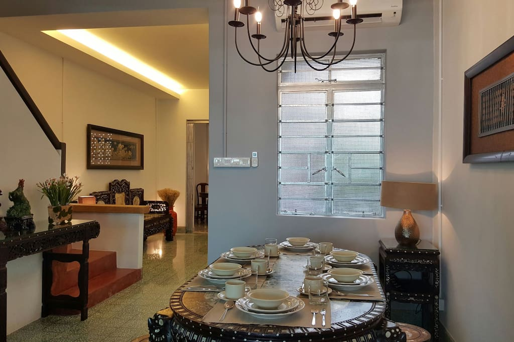 Dining Room I- Complete 8 person dining set all available for your usage and comfort during your stay