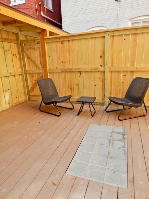 Fully renovated patio custom for unit