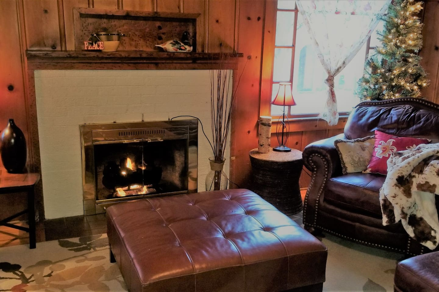 Cozy up to the Gas Log Fireplace! Living Room has amazing Ambiance! One of my absolutel favorite places and ever so charming inside!