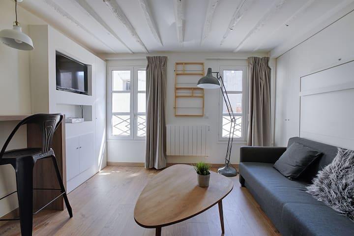 Studio parisien au coeur du Marais - bail mobilité