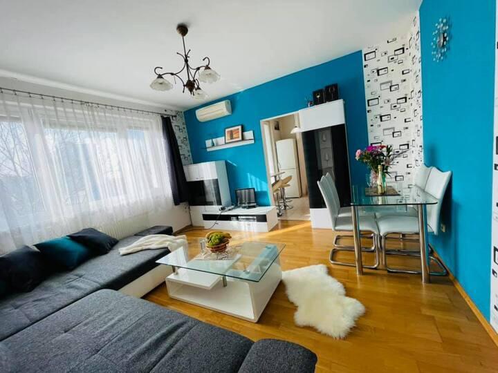 Sunny entire 2BR apartment in Ružinov, Bratislava