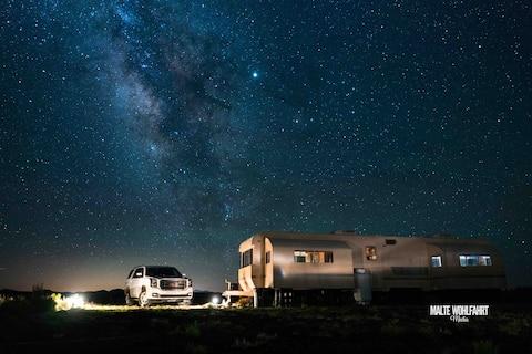 Off-Grid Solar Camping - AC/Heat - Free Firewood!