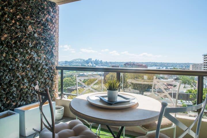Luxury 1BR Potts Point apartment w Harbour views - Potts Point - Departamento